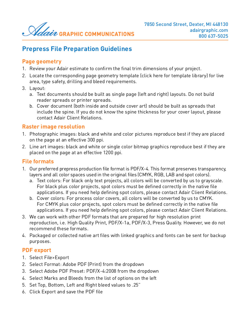 Adair Prepress File Preparation Guidelines 2015